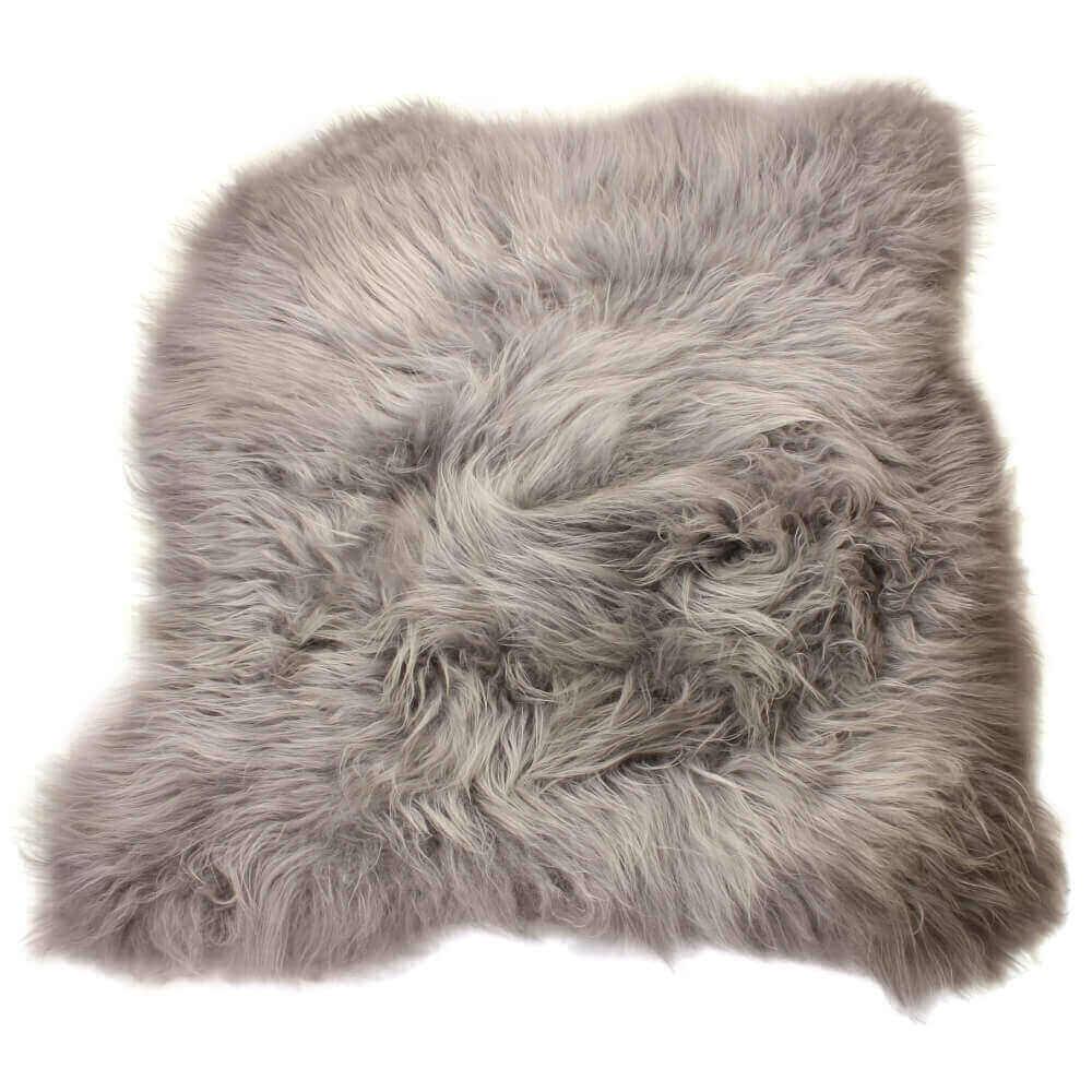 Large Double Icelandic Sheepskin Rug Grey