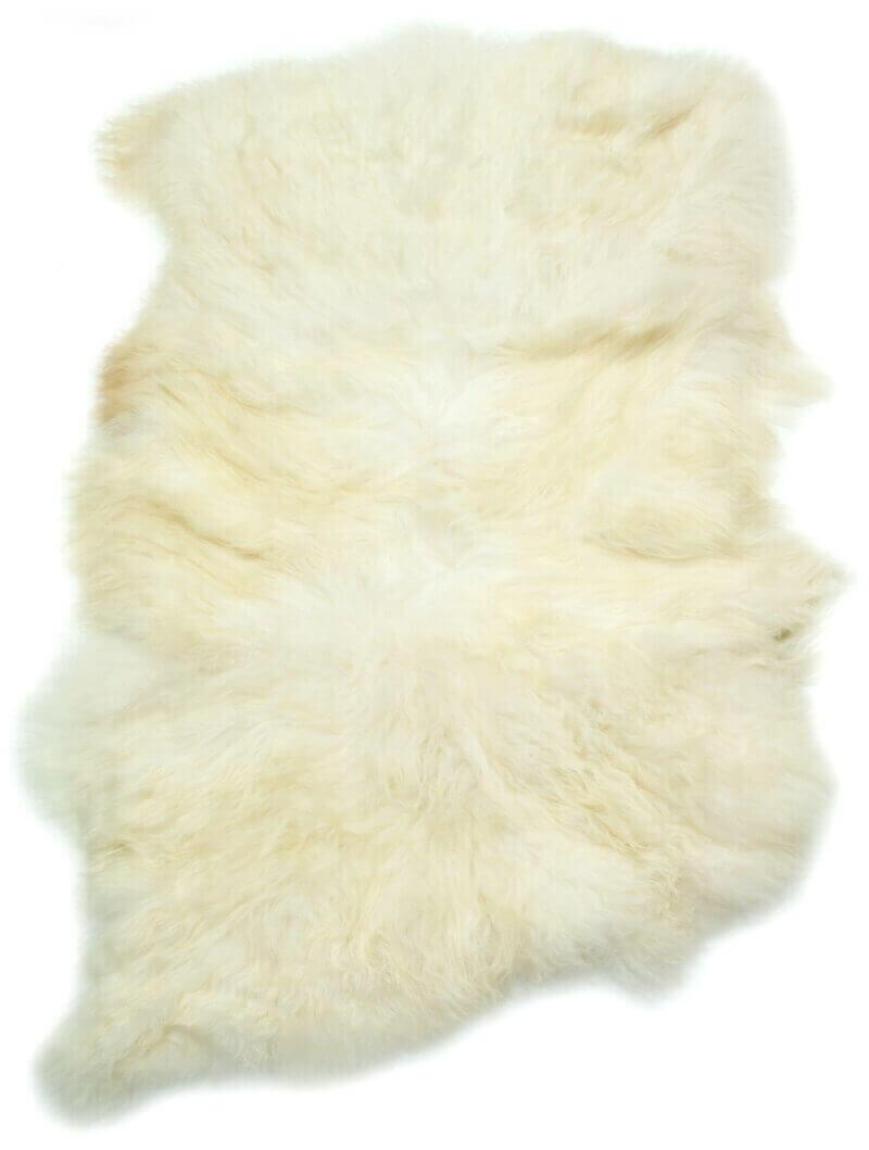 Large Double Icelandic Sheepskin Rug Natural White