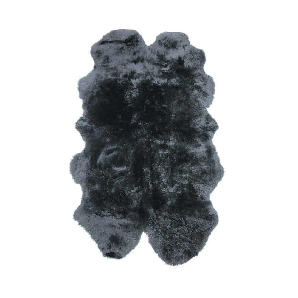 Extra Large Quad Sheepskin Rug Black