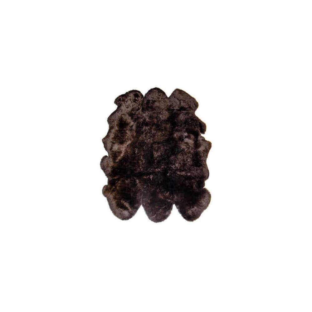 Extra Large Sexto Sheepskin Rug Chocolate Brown