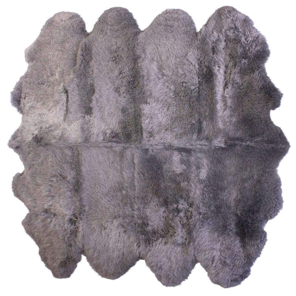 Extra Large Octo Sheepskin Rug Grey