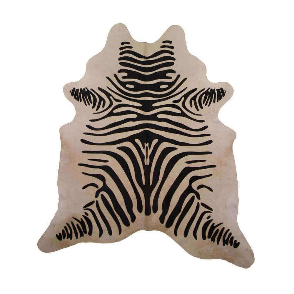 Zebra Print Cowhide Rug