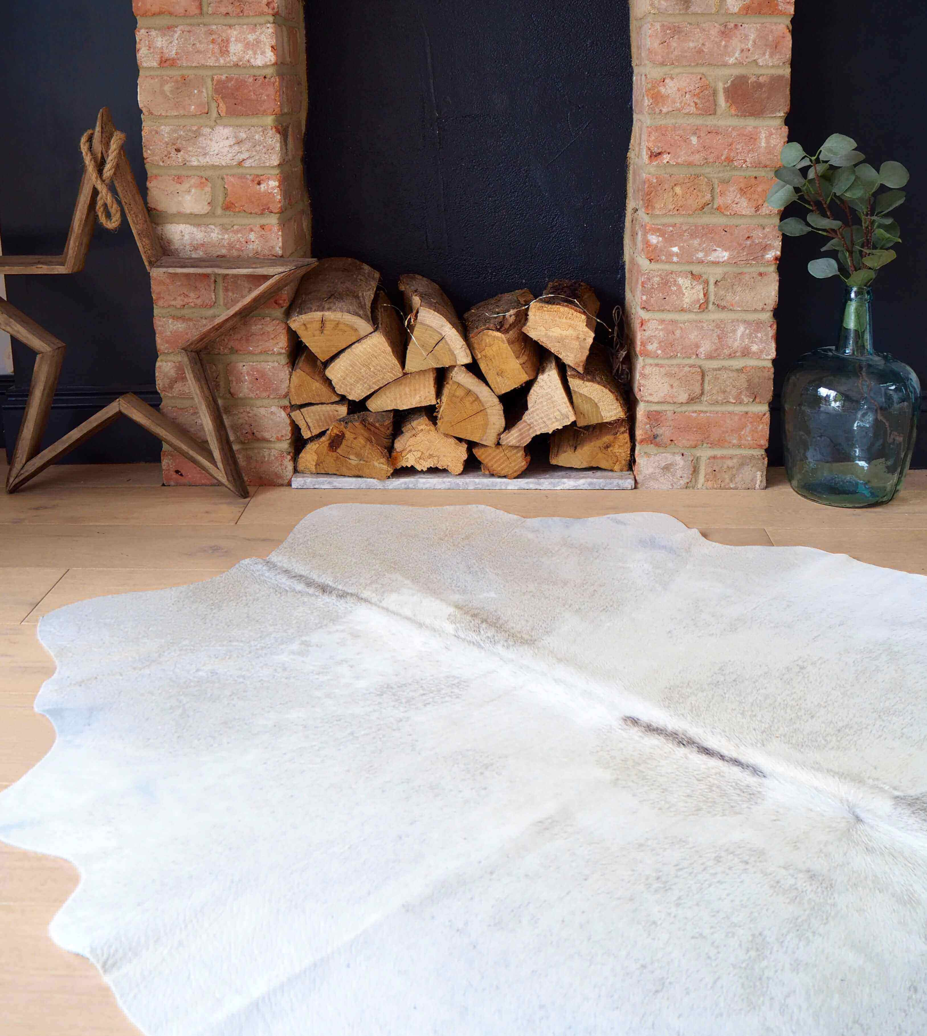 Bespoke Collection Nordic Grey White Cowhide