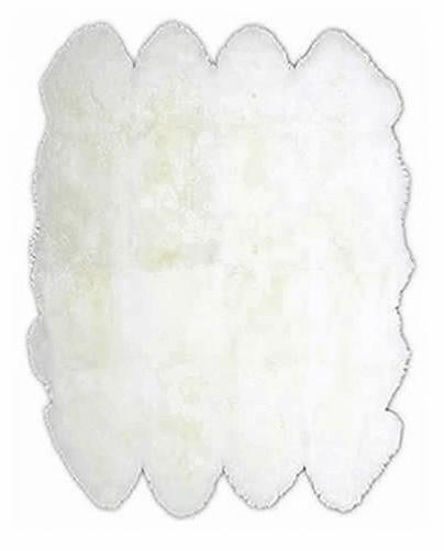 XXL Octo Sheepskin Rug White Ivory