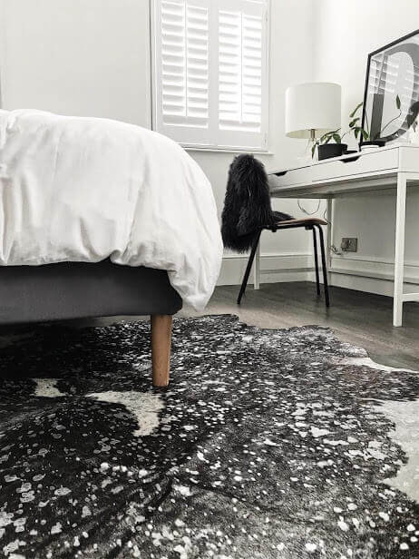 Silver And Grey Metallic Cowhide Rug Featured