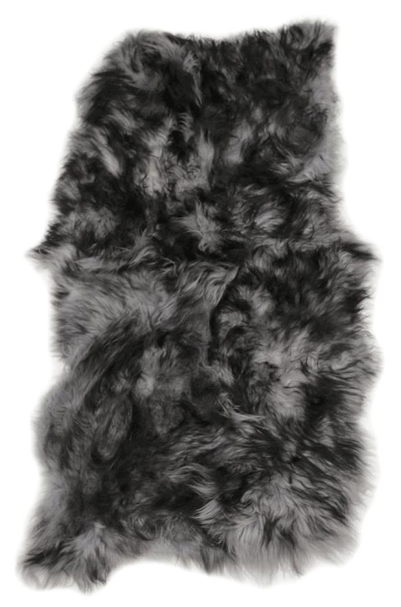 Extra Large Quad Icelandic Sheepskin Rug  Silver Grey With Dark Tip