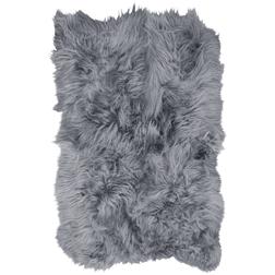 Extra Large Quad Icelandic Sheepskin Rug  Silver Grey