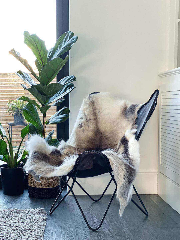 Large Nordic Reindeer Hide Rug