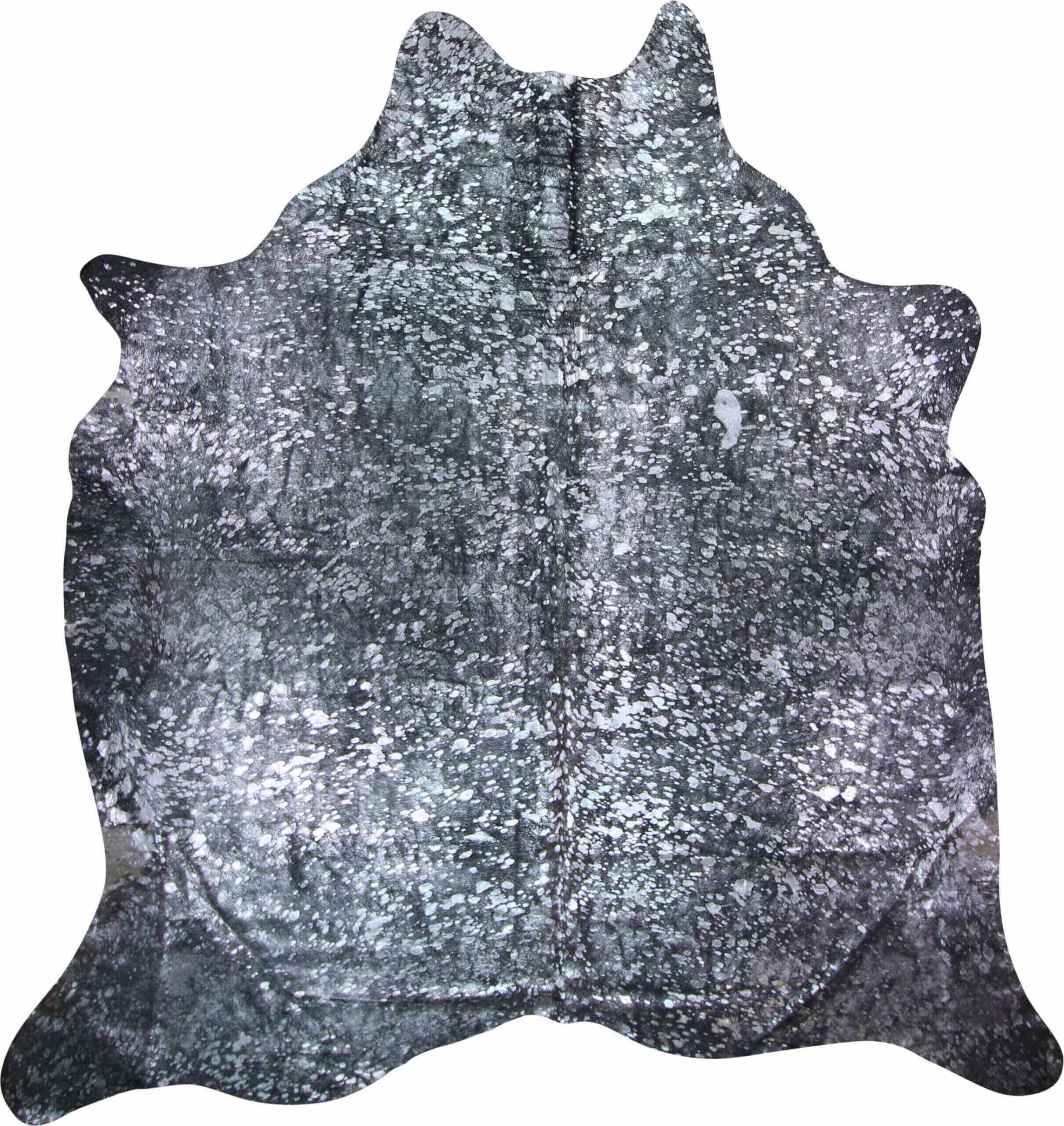 Silver And Grey Metallic Cowhide Rug
