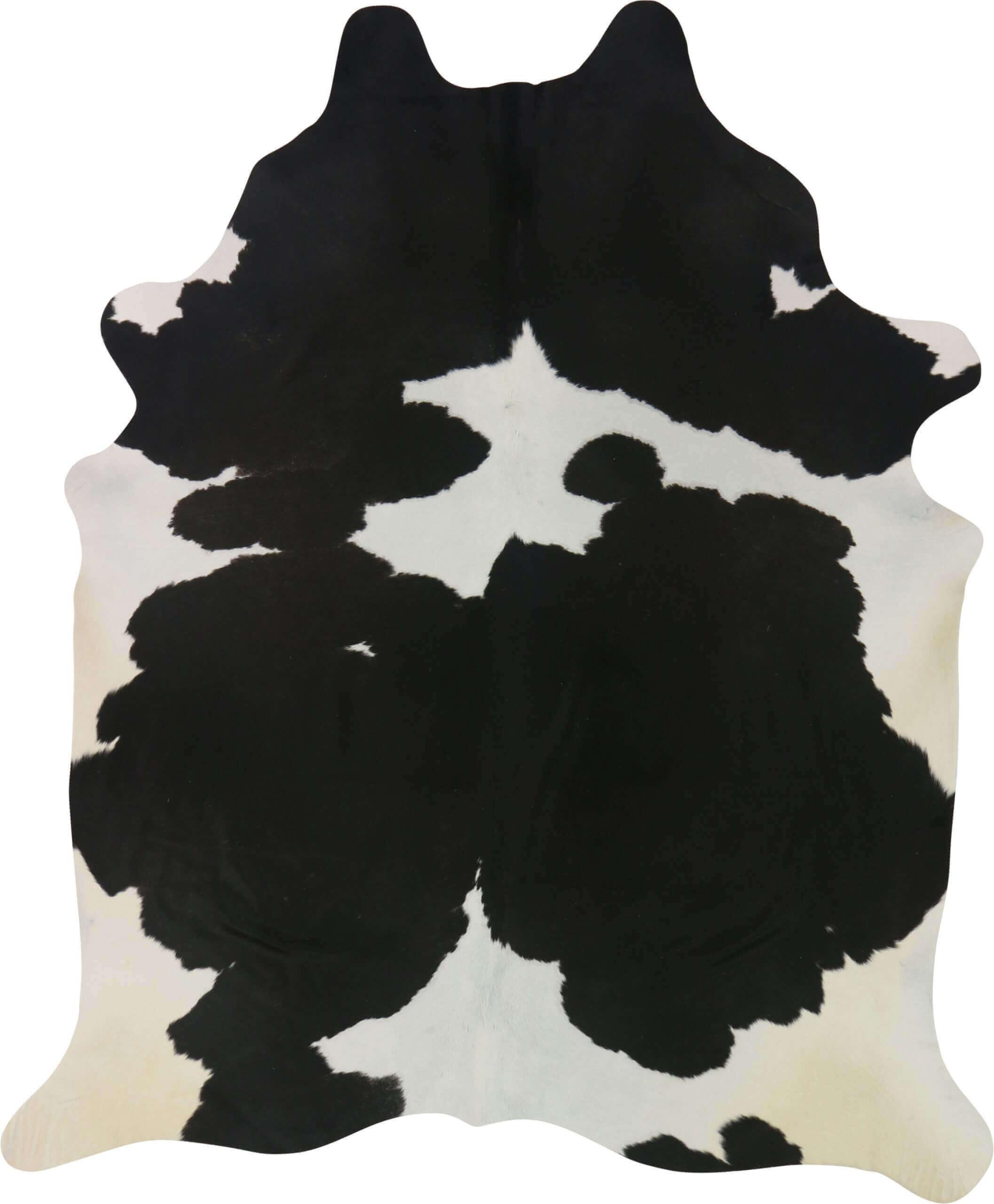 Black And White Cowhide Rug 2.48m x 2.08m